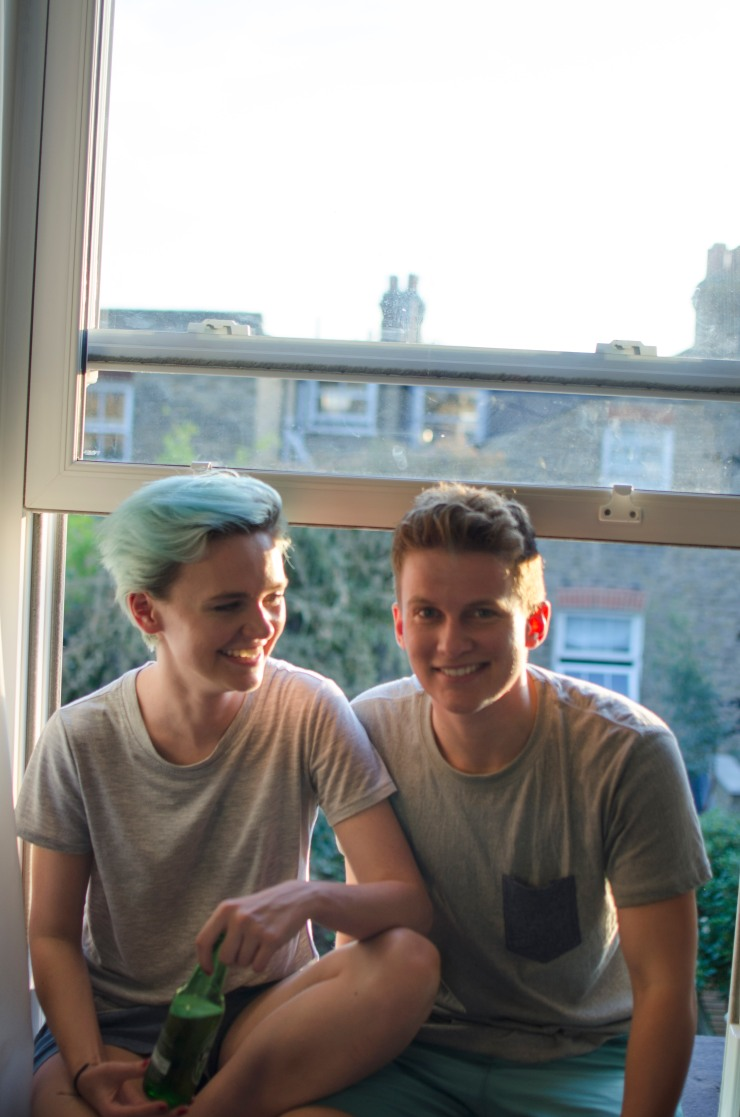 Adam and Nell by the window