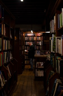 Inside Richard Booth's Bookshop.