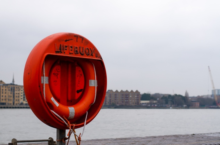 A lifebuoy in Rotherhite, London