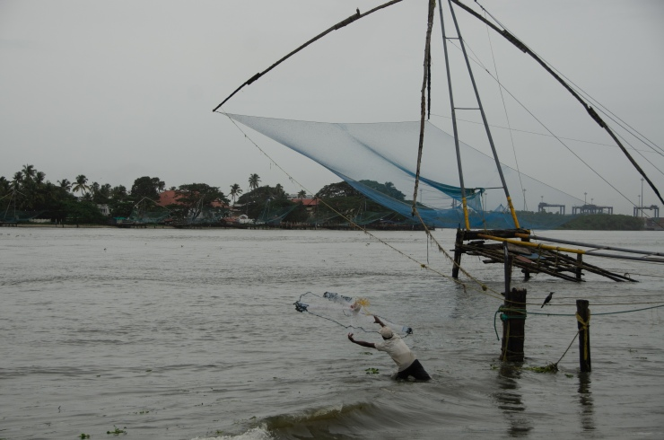 Fishermen in Cochin working