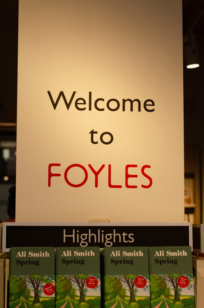 Foyle's welcome banner